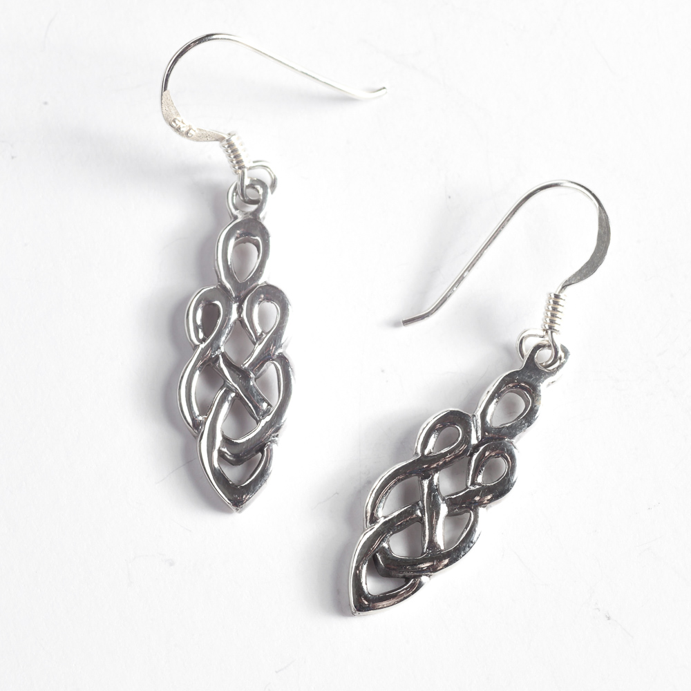 cornish stud knot tin celtic earrings