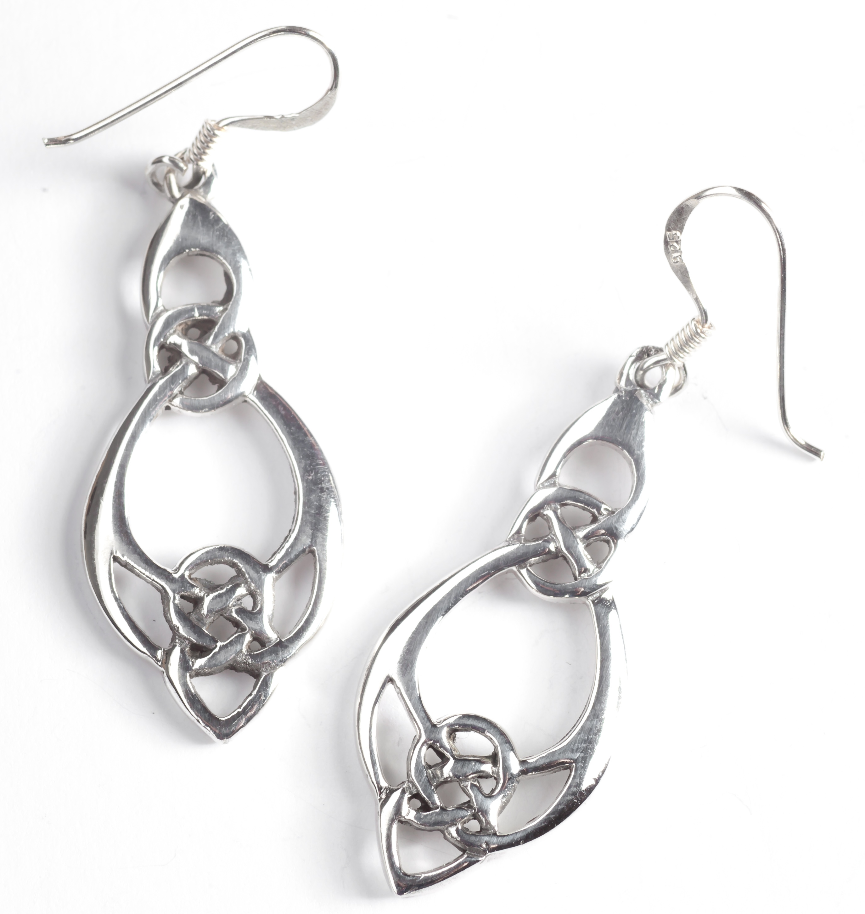 knot jewelry celtic moon earring cresent earrings